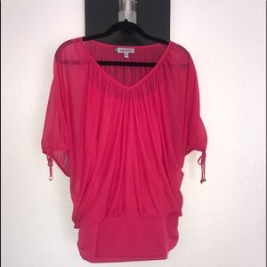 JLO Hot Pink Blouse